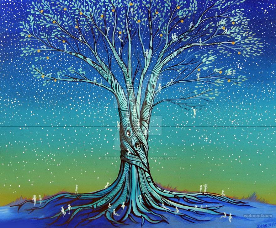 tree painting by bettinamarson