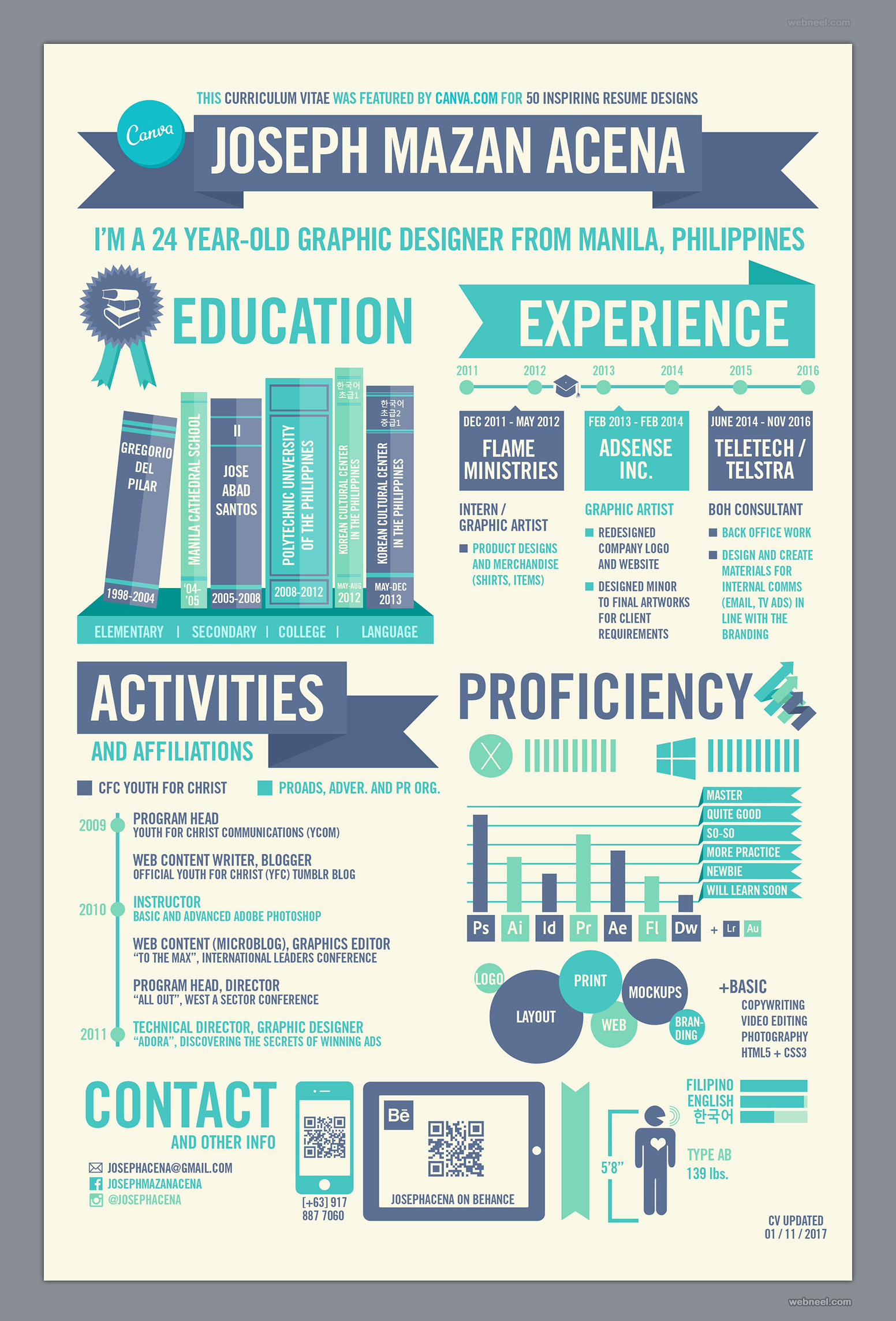 creative resume design by josephacena