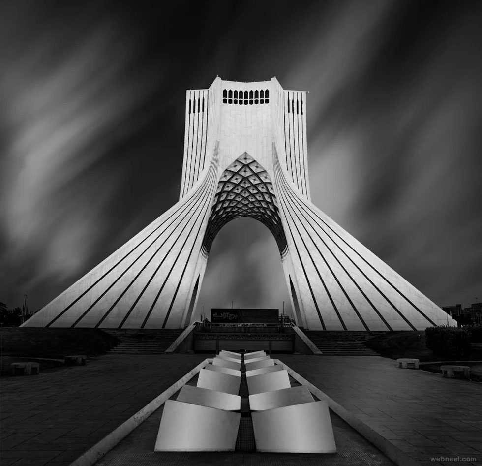 black and white photo abstract iran gateway by mrafiee