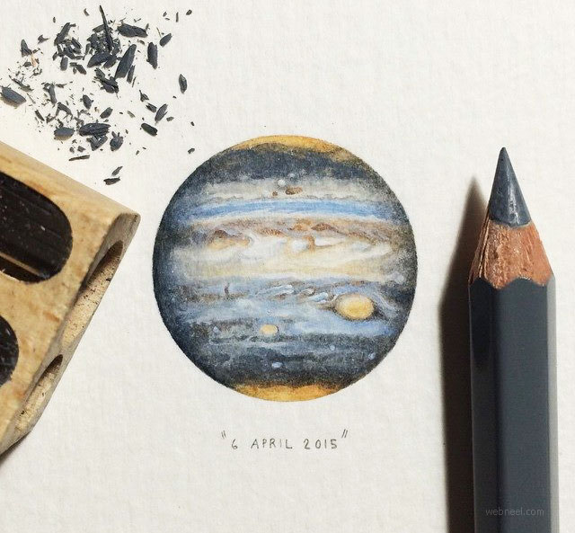 miniature painting artwork earth by lorraine loots