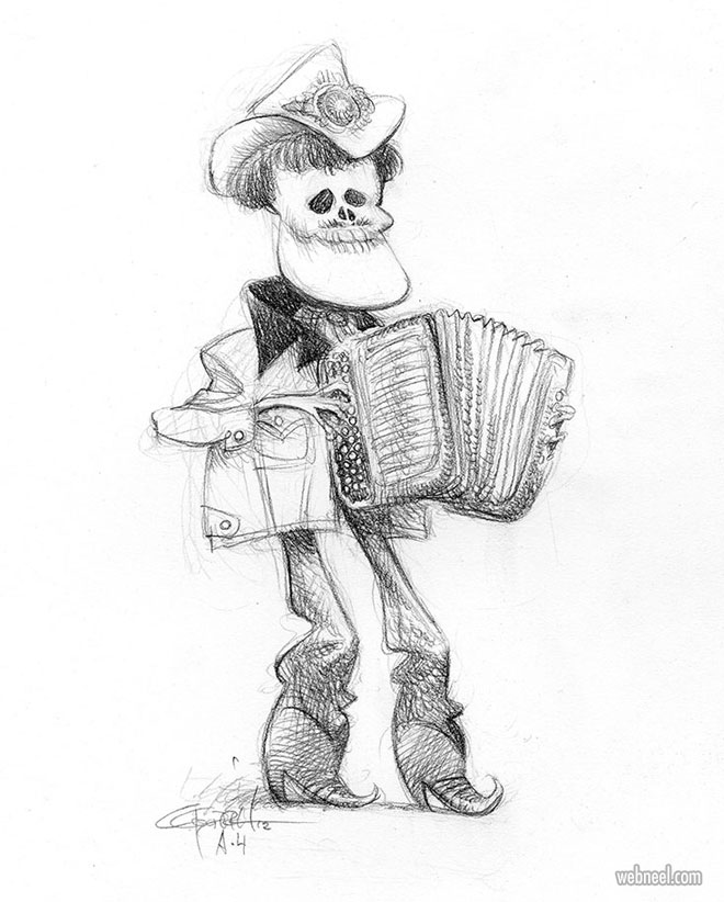 funny drawing skeleton coco