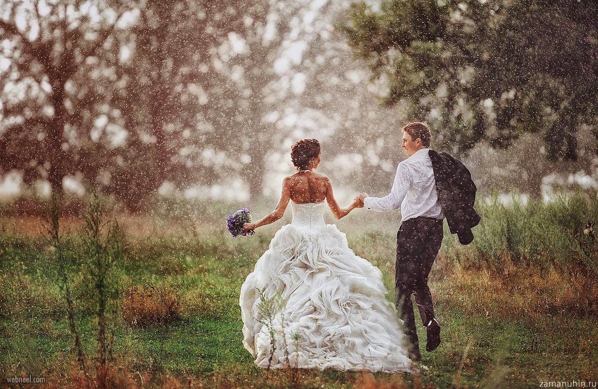 wedding rain photography