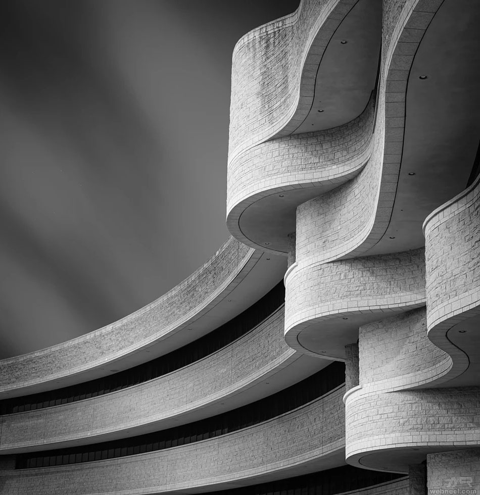 black and white photoraphy abstract canada museum by mrafiee