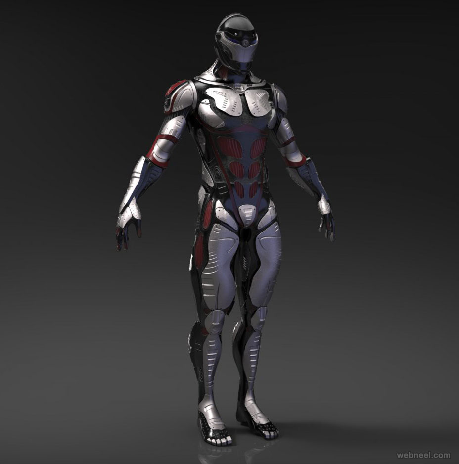 3d model robot scifi character by cgregory