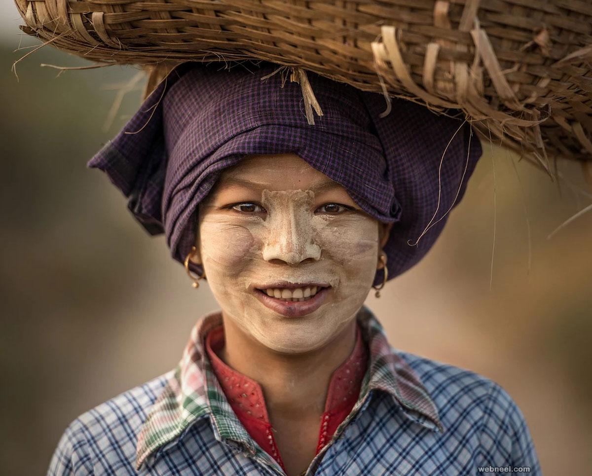 beautiful woman myanmar by sarawutintarob