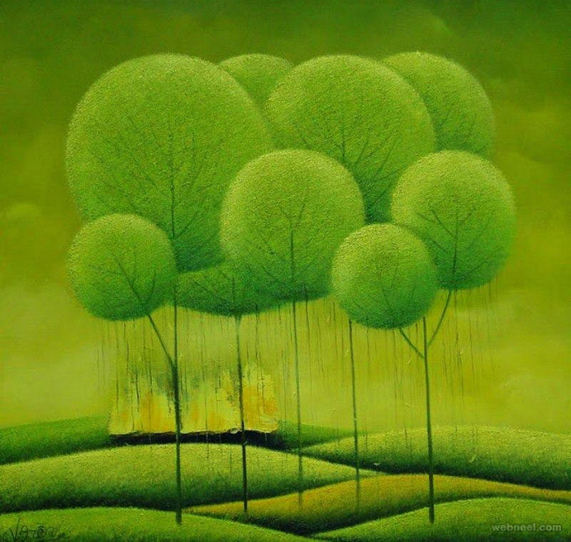 tree painting by vucongdien
