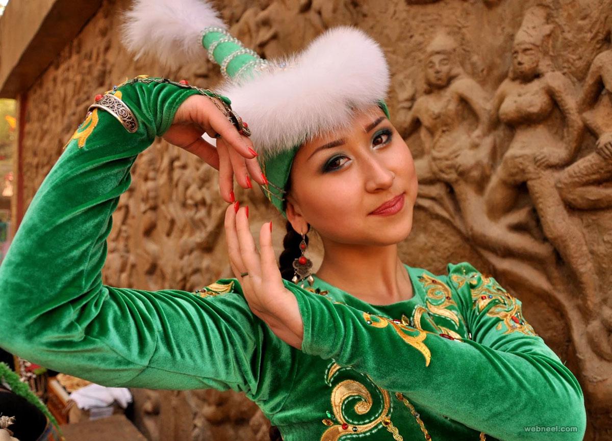 beautiful woman kazakhstan by nirmaldayani