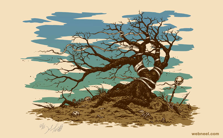 tree painting by jeraltidwell