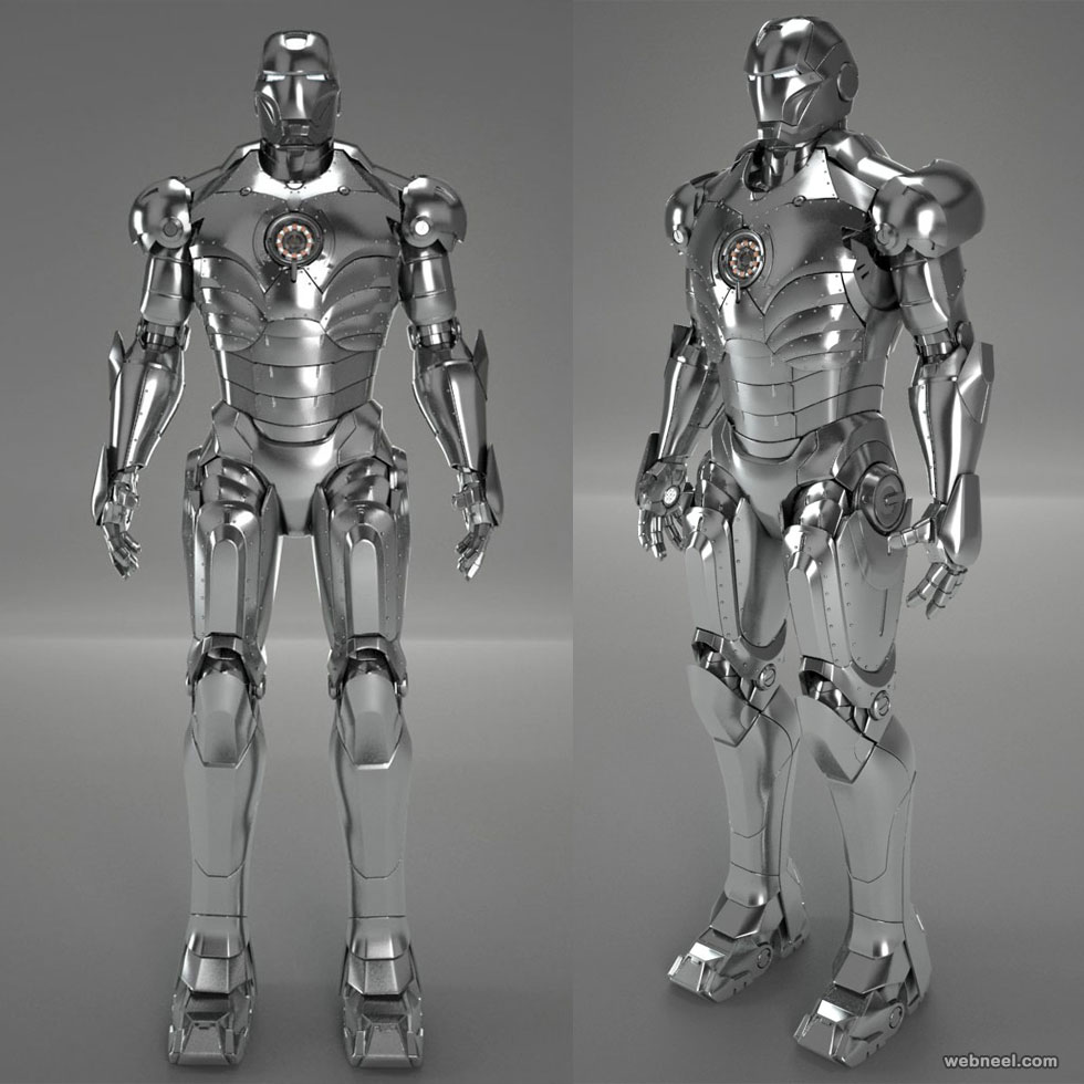 3d model robot ironman