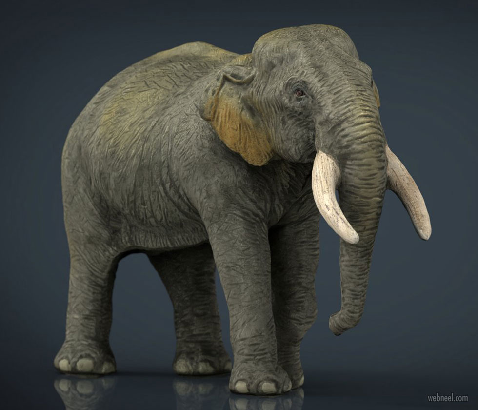 3d models elephant animal