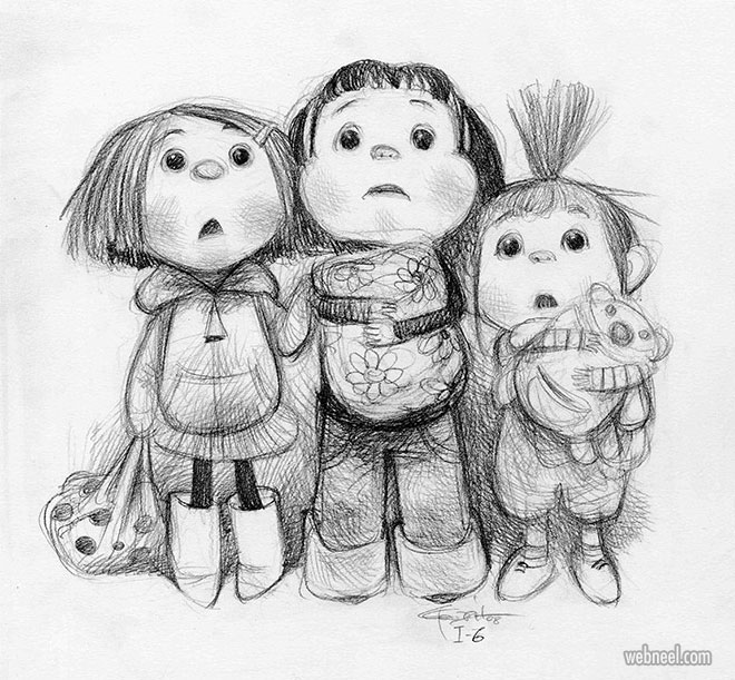 funny drawing kids despicable girls