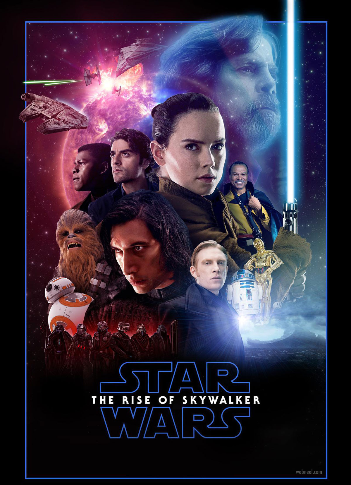 movie poster design star wars glossy composite