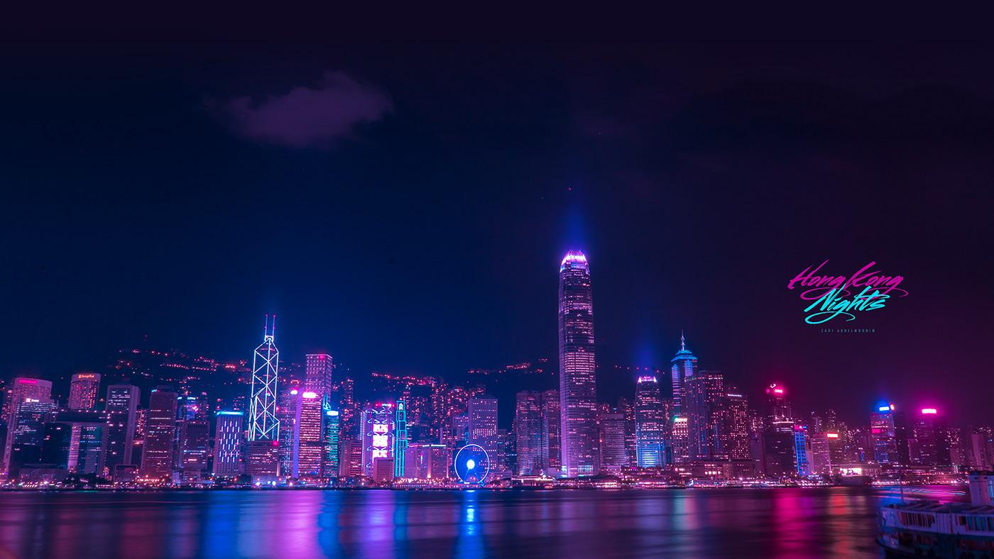 neon light photography hongkong by zaki abdelmounim