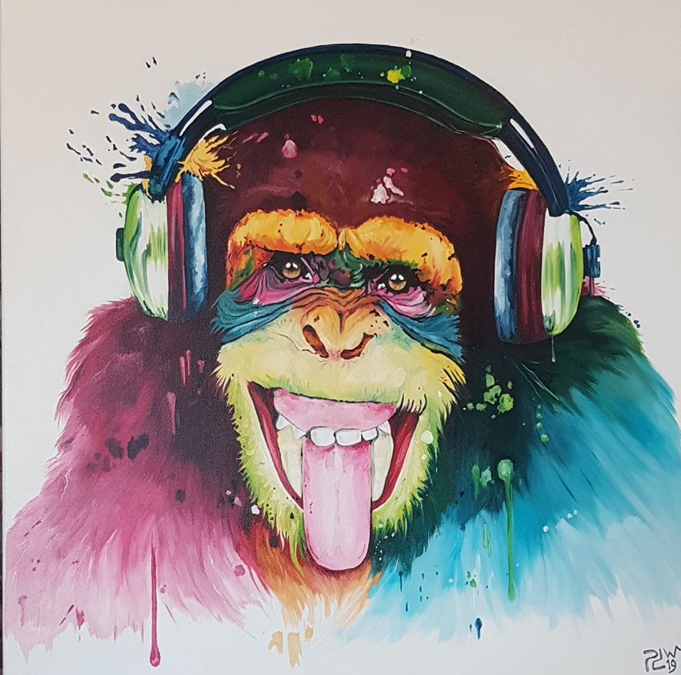 oil painting monkey