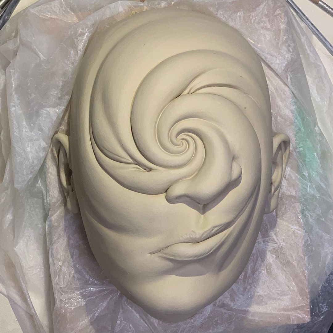 ceramic sculpture swirl