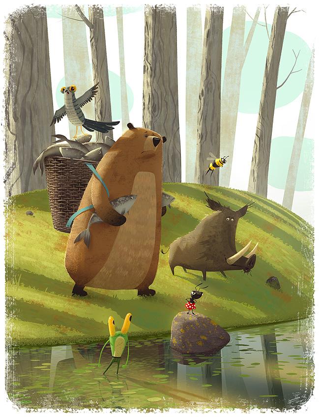 digital illustration art animals by gediminaspranckevicius