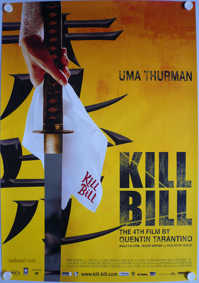 movie poster design killbill mylar