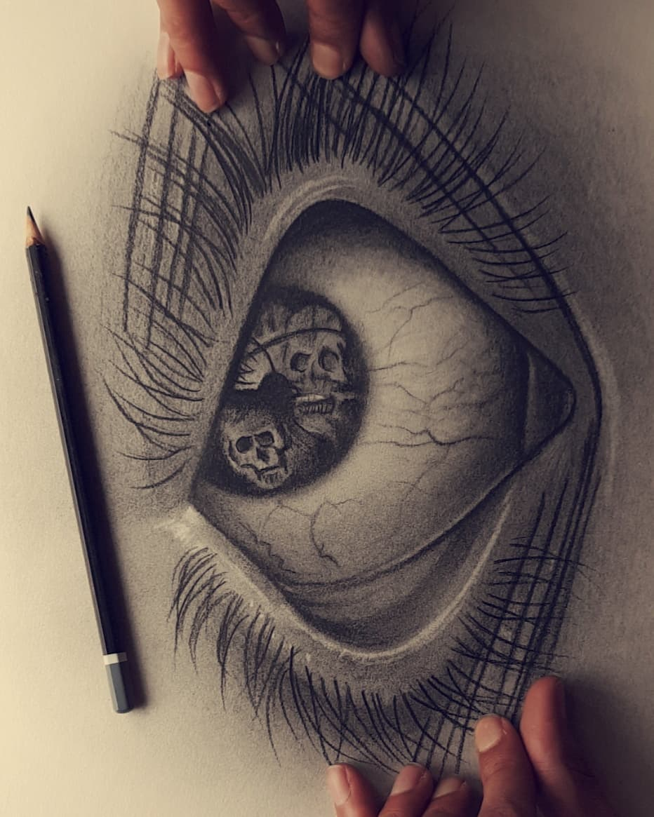 pen drawing eye