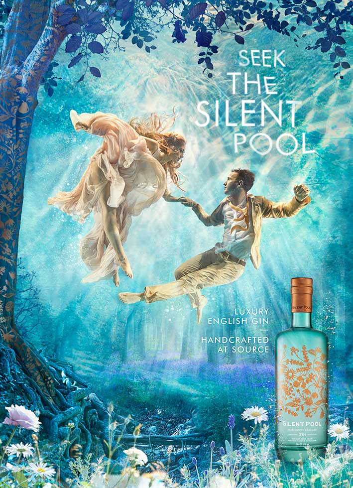 underwater photography advertising silent pool