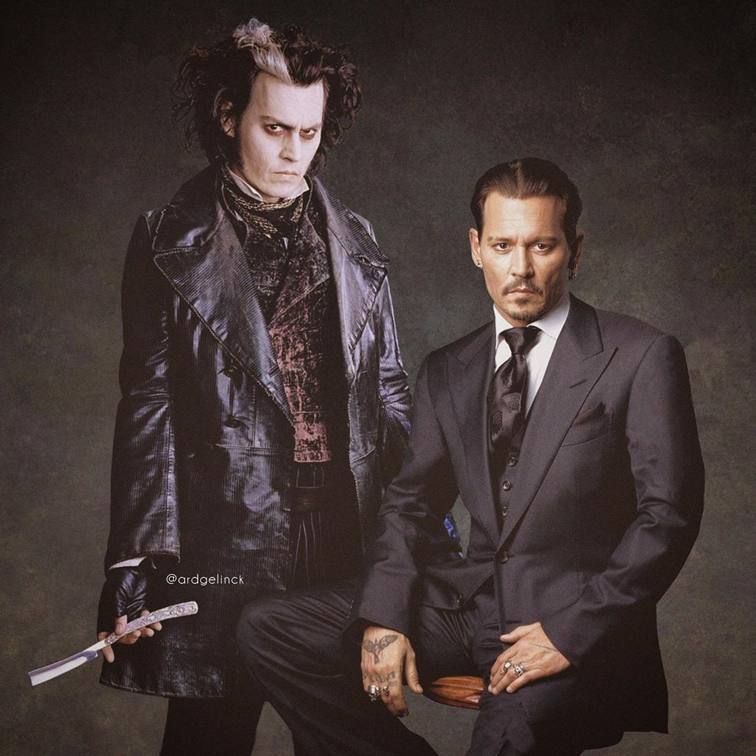 photo manipulation celebrity johnny depp by ard gelinck