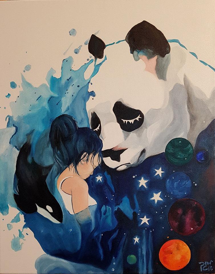 oil painting sadpanda