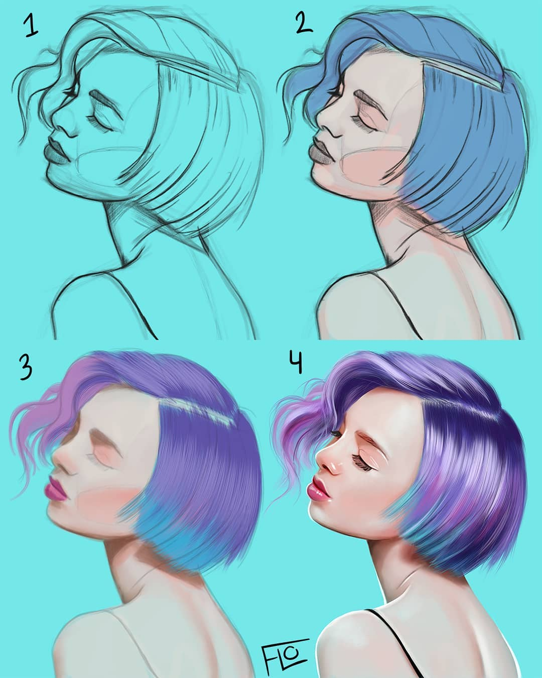drawing shorthair step by step tutorial by flo