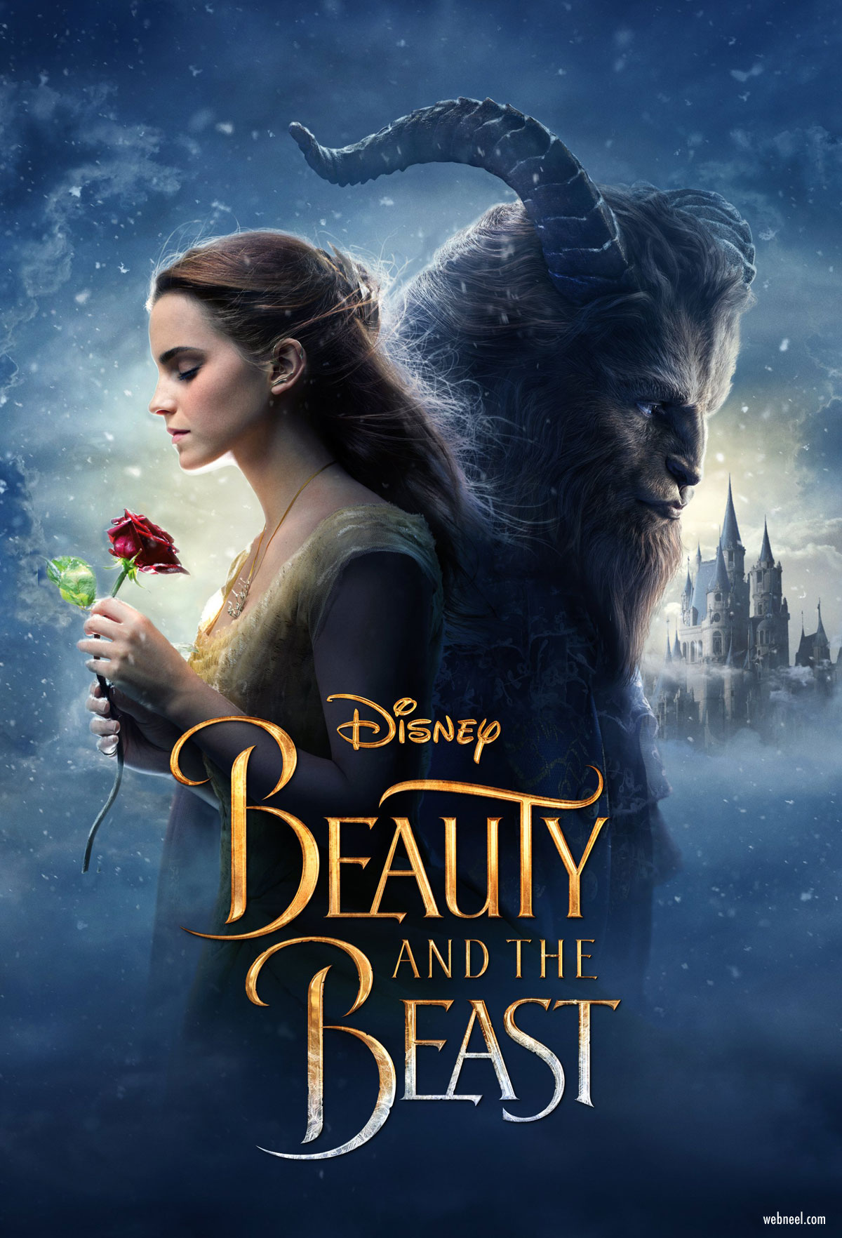 movie poster design beauty beast typography