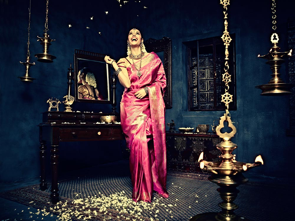 advertising photography jewellery nalli silk saris