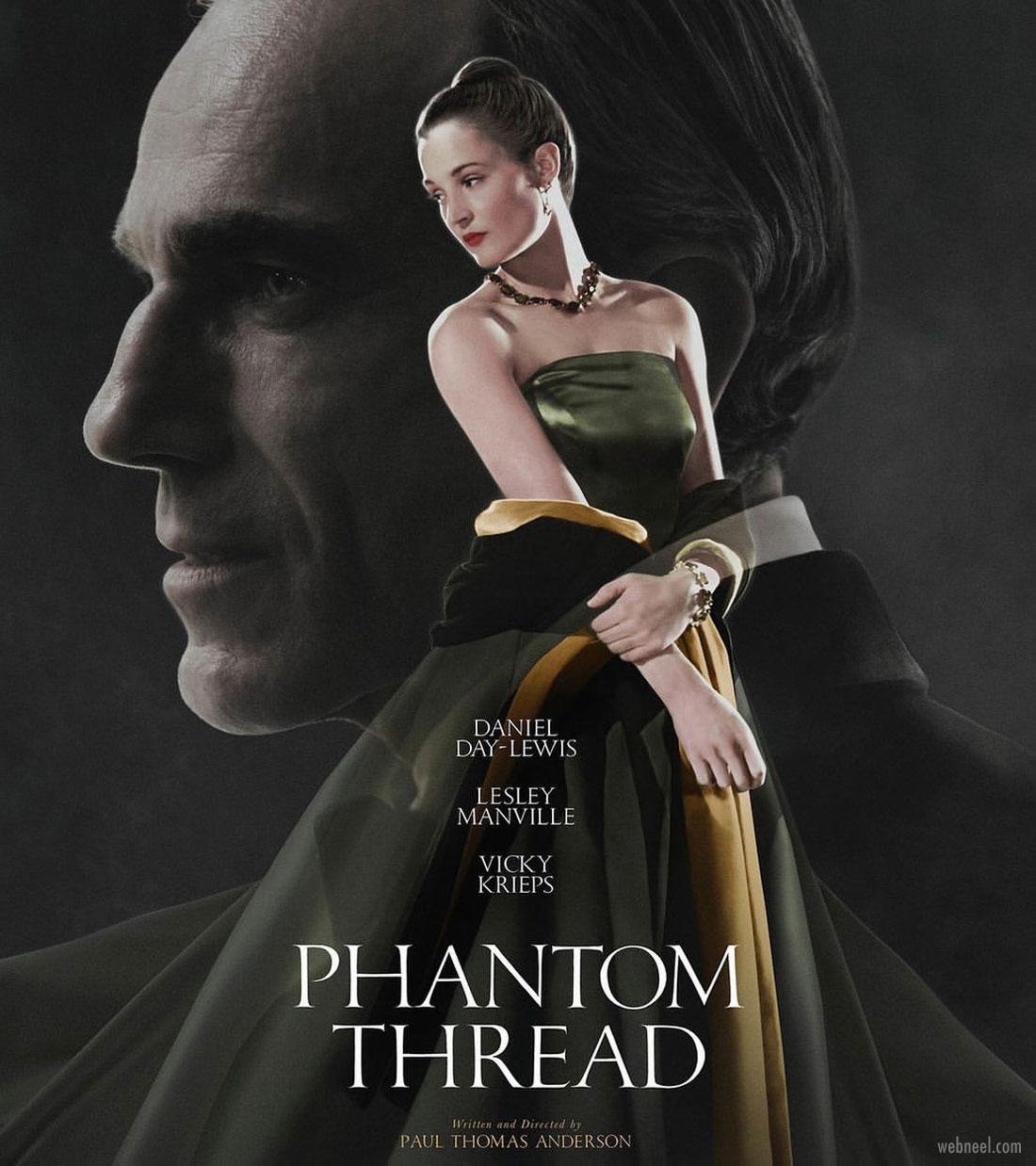 movie poster design phanton thread typography