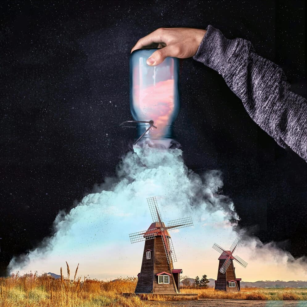 photo manipulation windmill by phuoc nguyen
