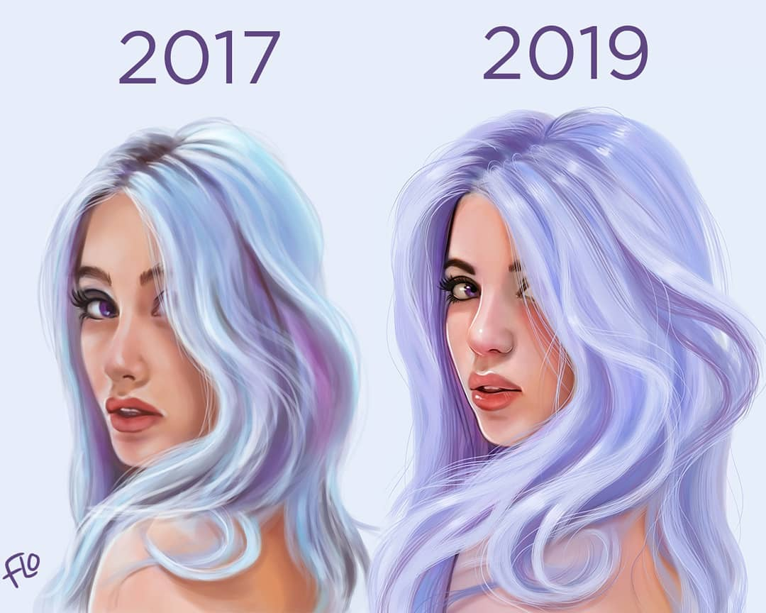 drawing woman step by step tutorial by flo