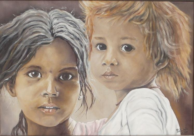 oil painting children