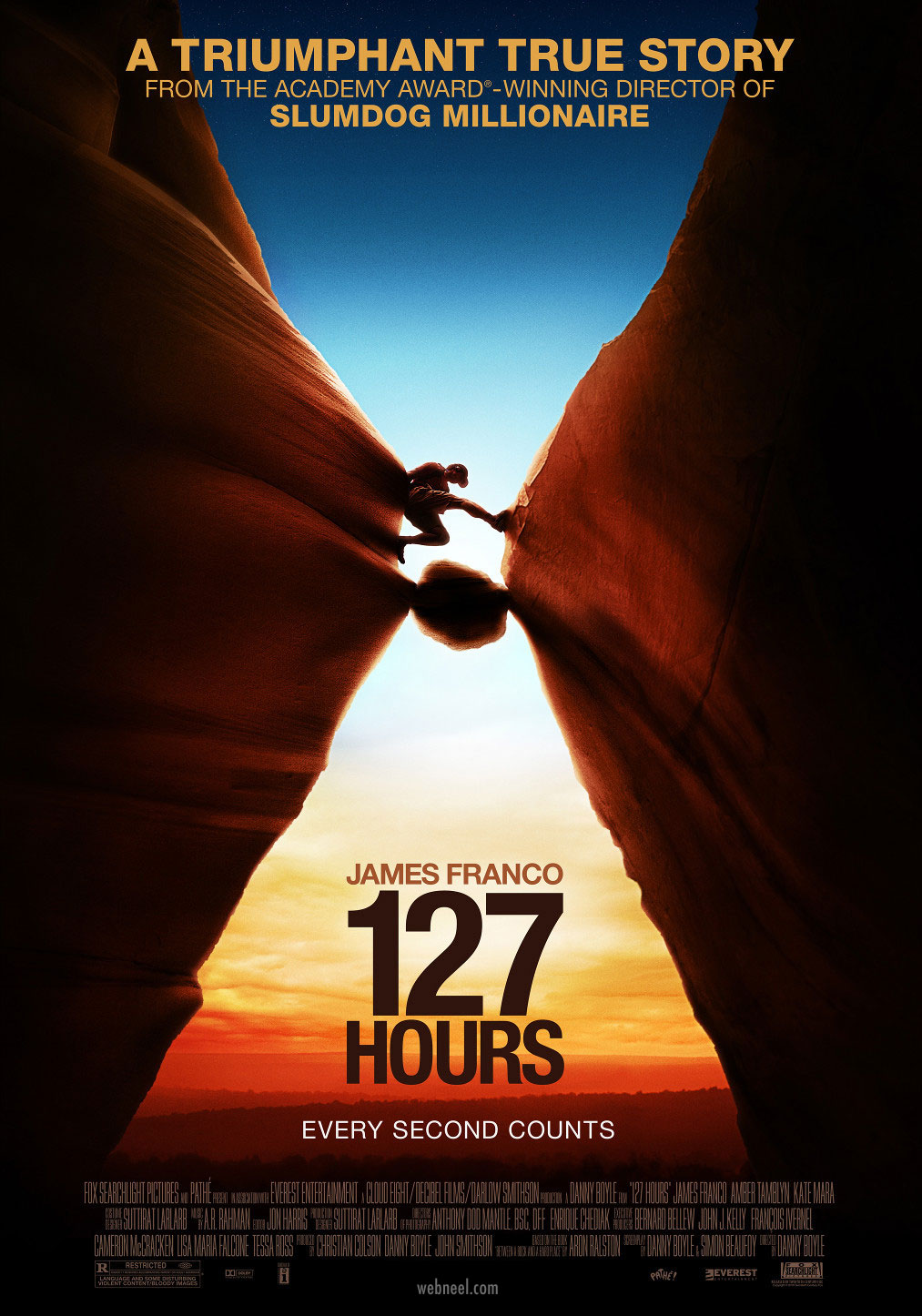 movie poster design 127 hours aida