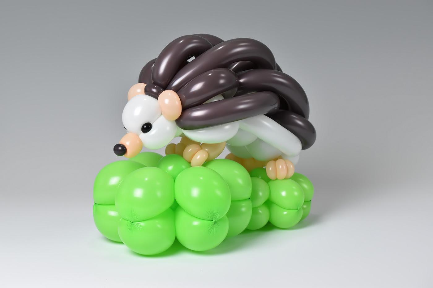 balloon sculptures hedgehog