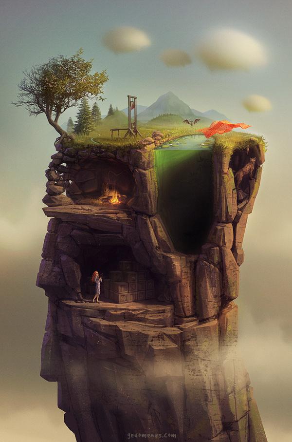 digital illustration art surreal by gediminaspranckevicius