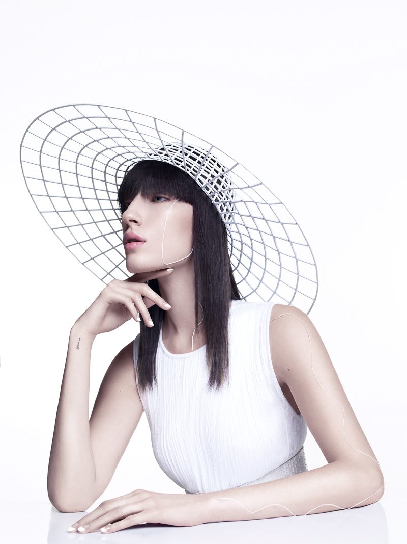 fashion photography hat by yulia gorbachenko
