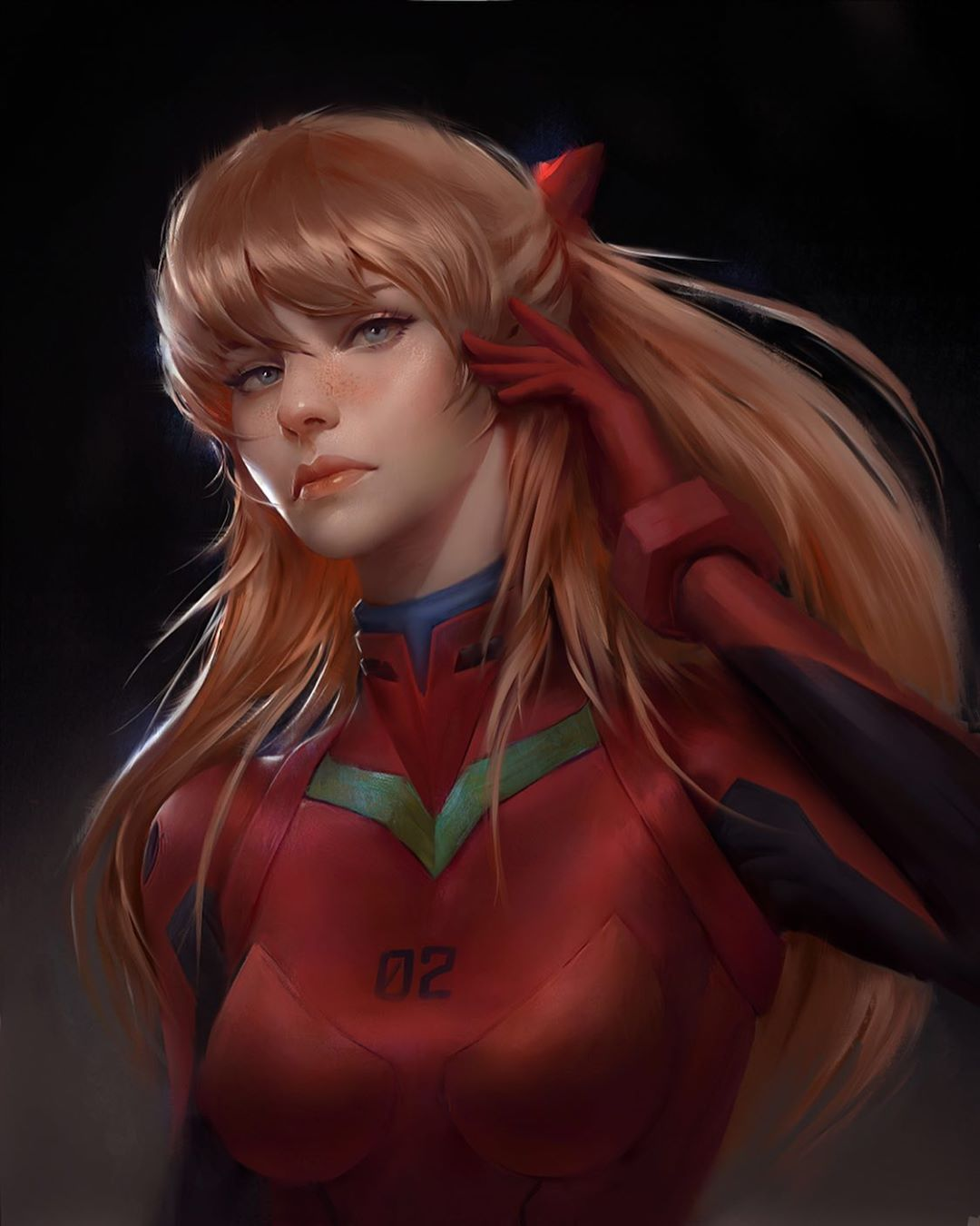 portrait paintings evangelion by justine florentino