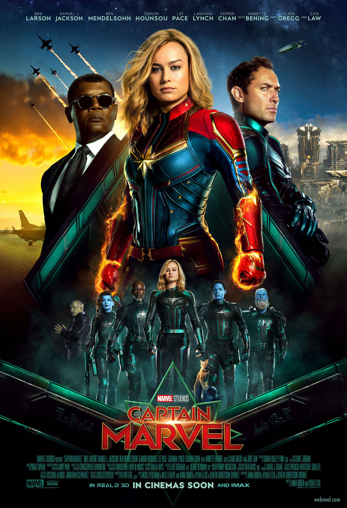 movie poster design captain marvel aida