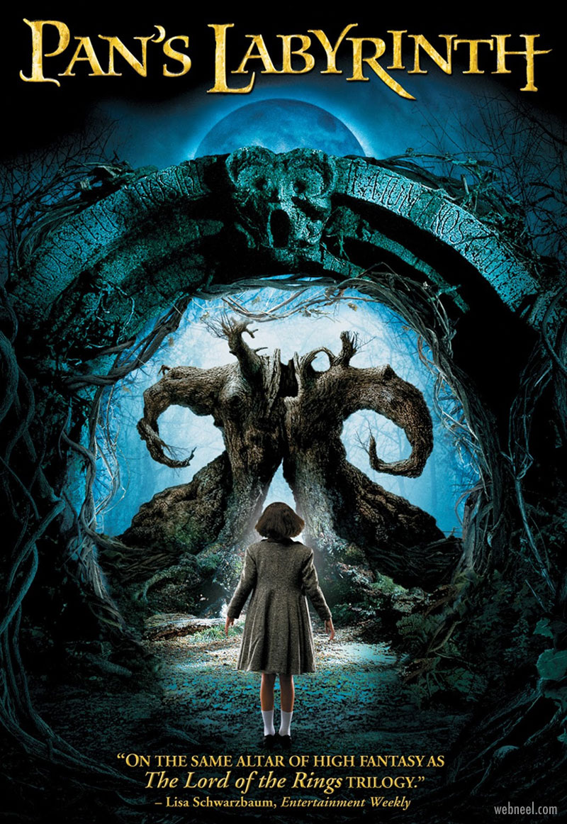 movie poster design pans labyrinth iconography