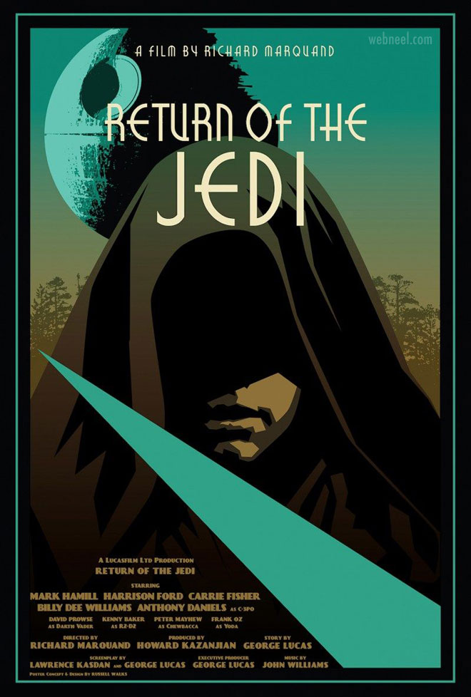 movie poster design return of the jedi iconography