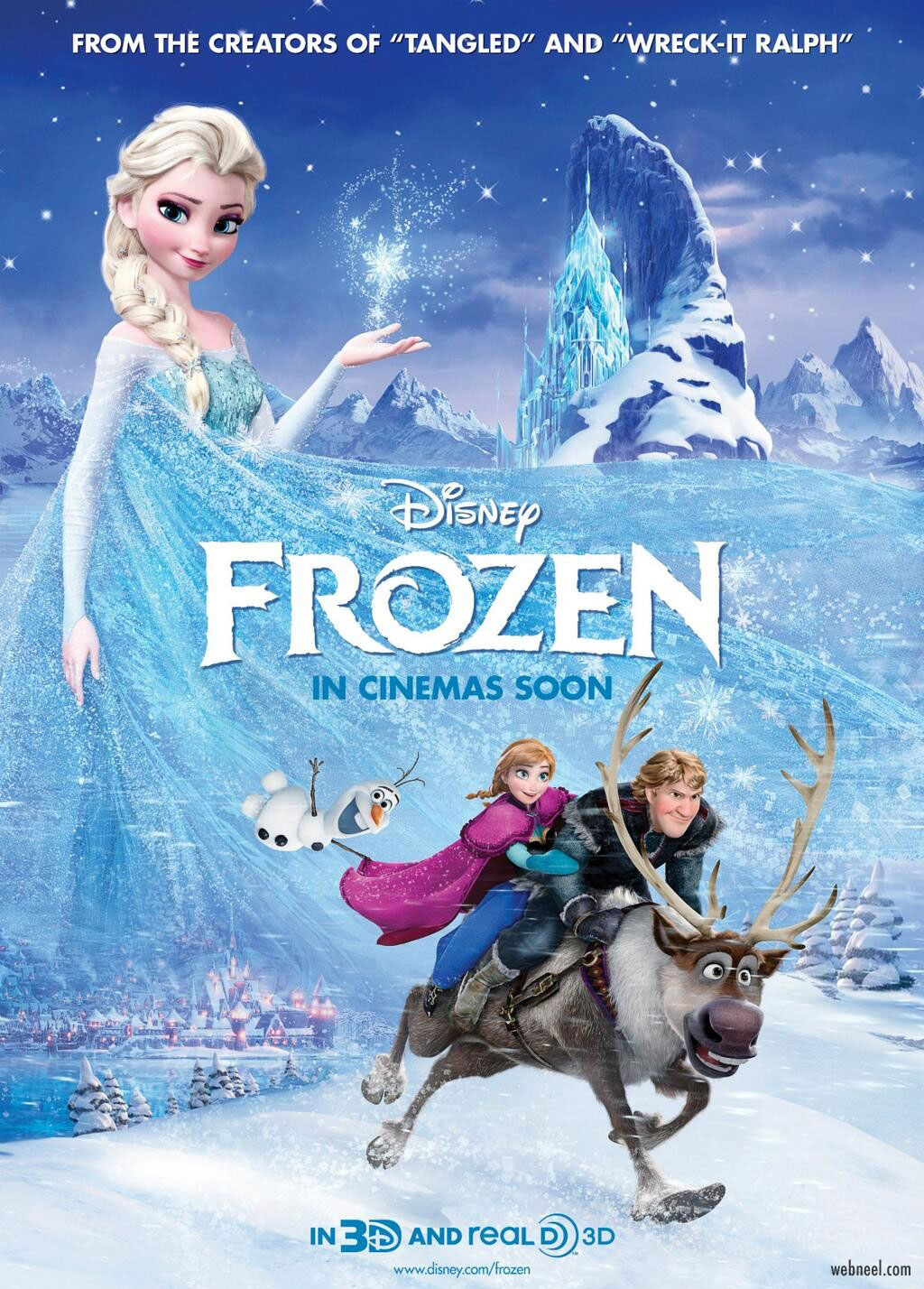 movie poster design frozen piqued