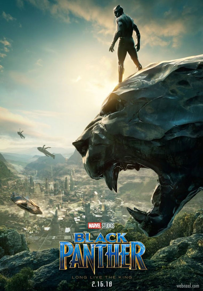 movie poster design black panther piqued