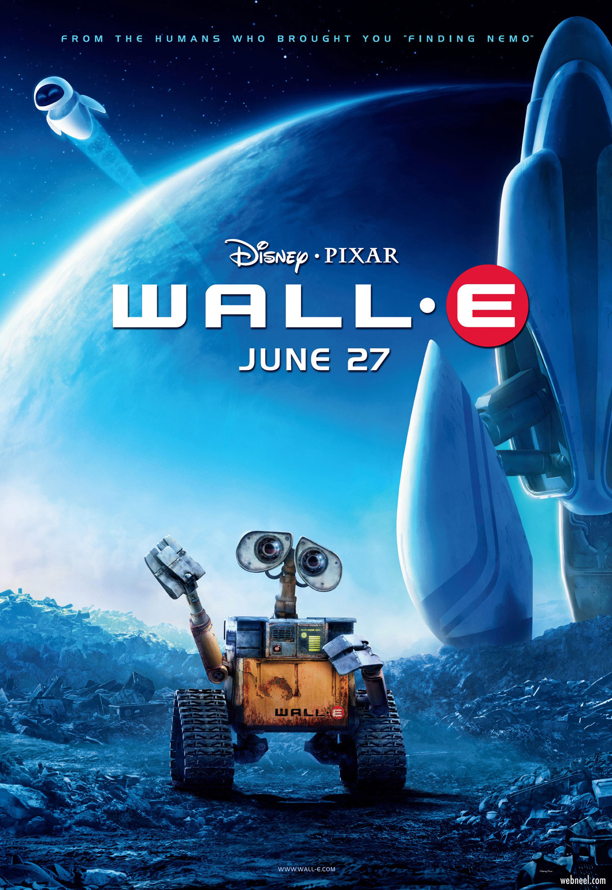 movie poster design walle piqued