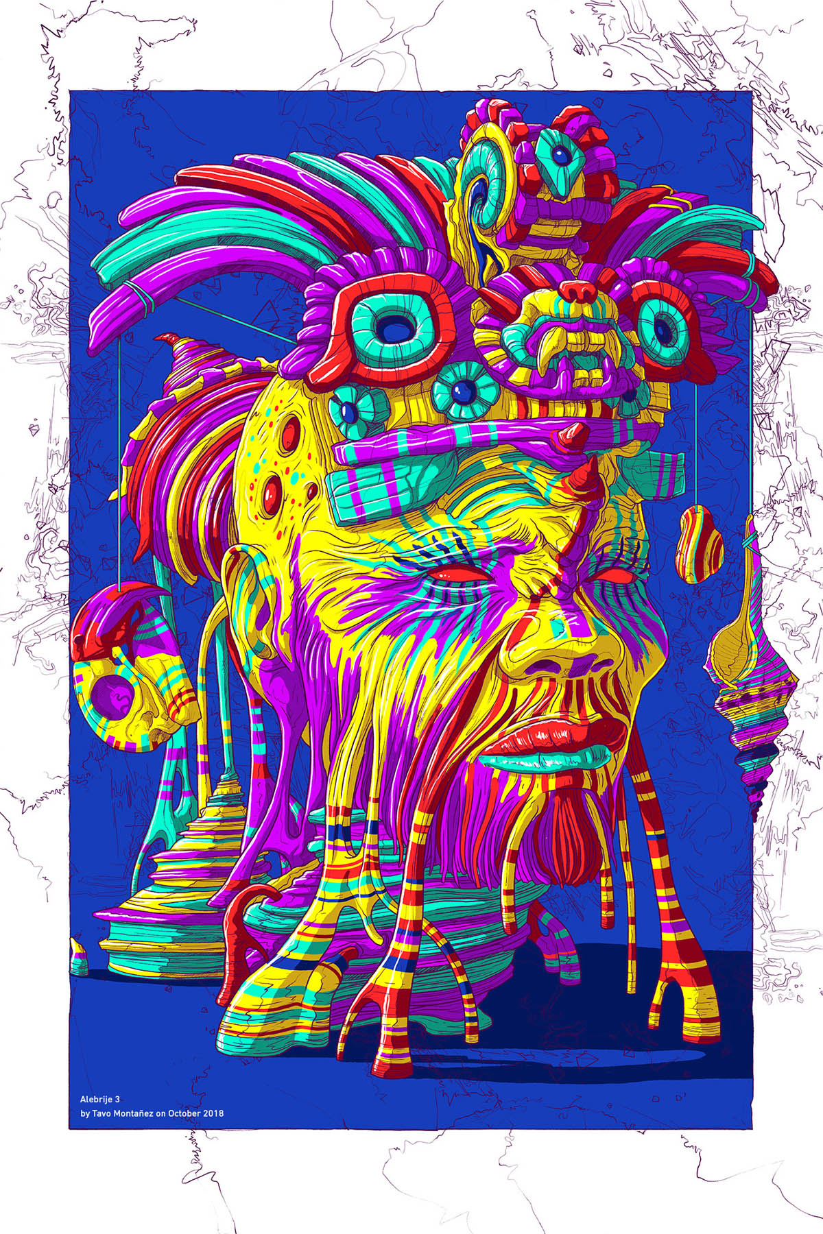 digital art illustration by tavo montanez