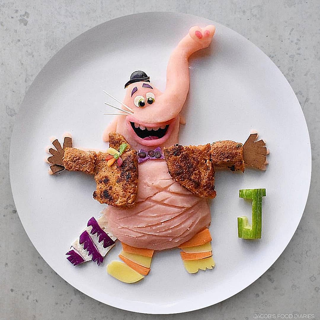 food art elephant