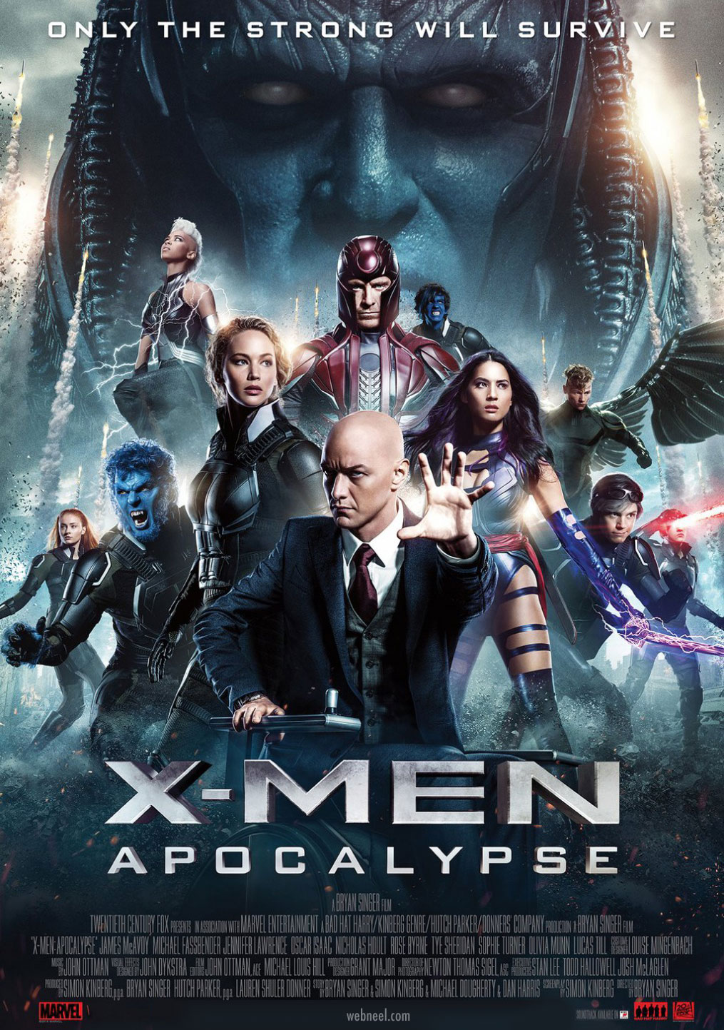 movie poster design xmen glossy composite