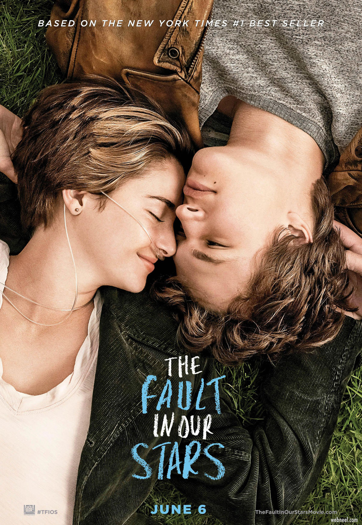 movie poster design fault in our stars relationship
