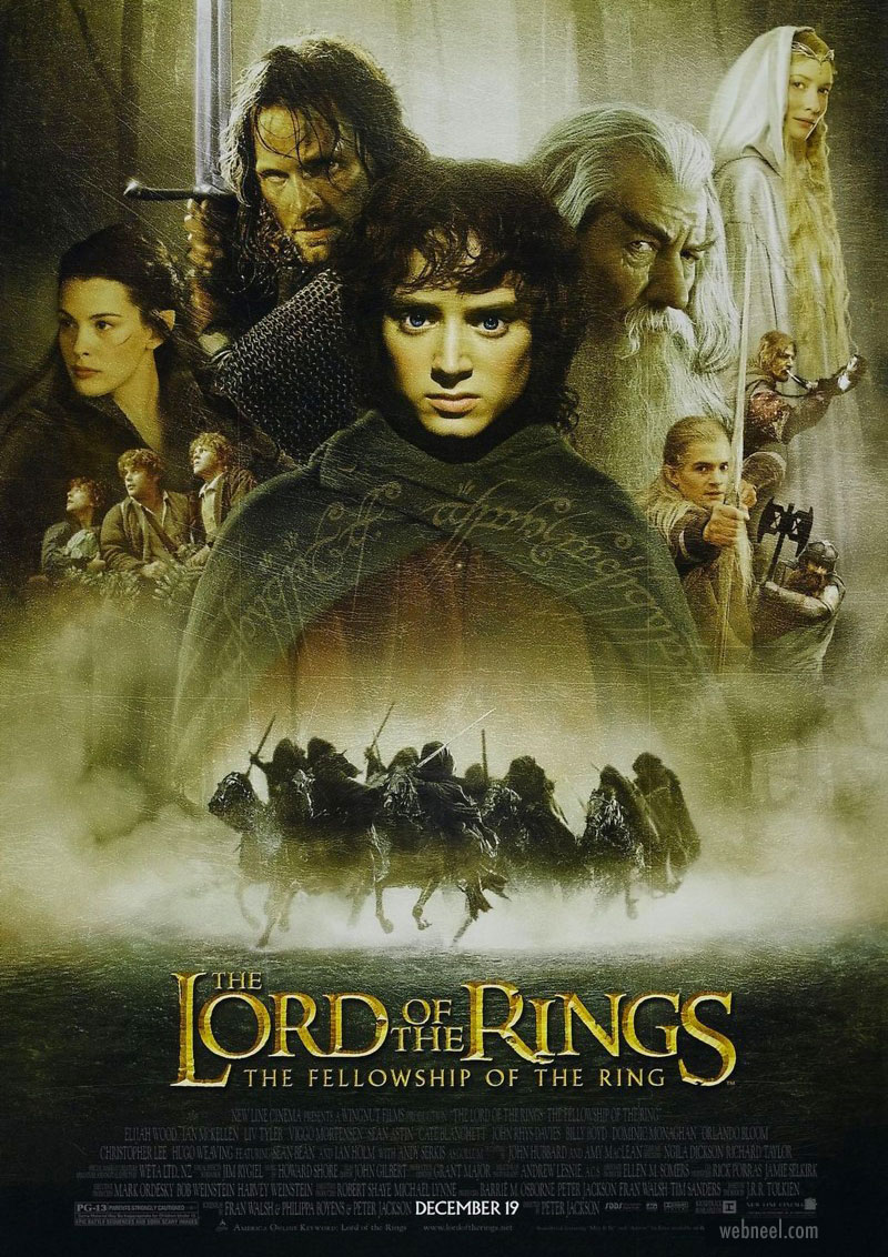 movie poster design lordoftherings book adaptation