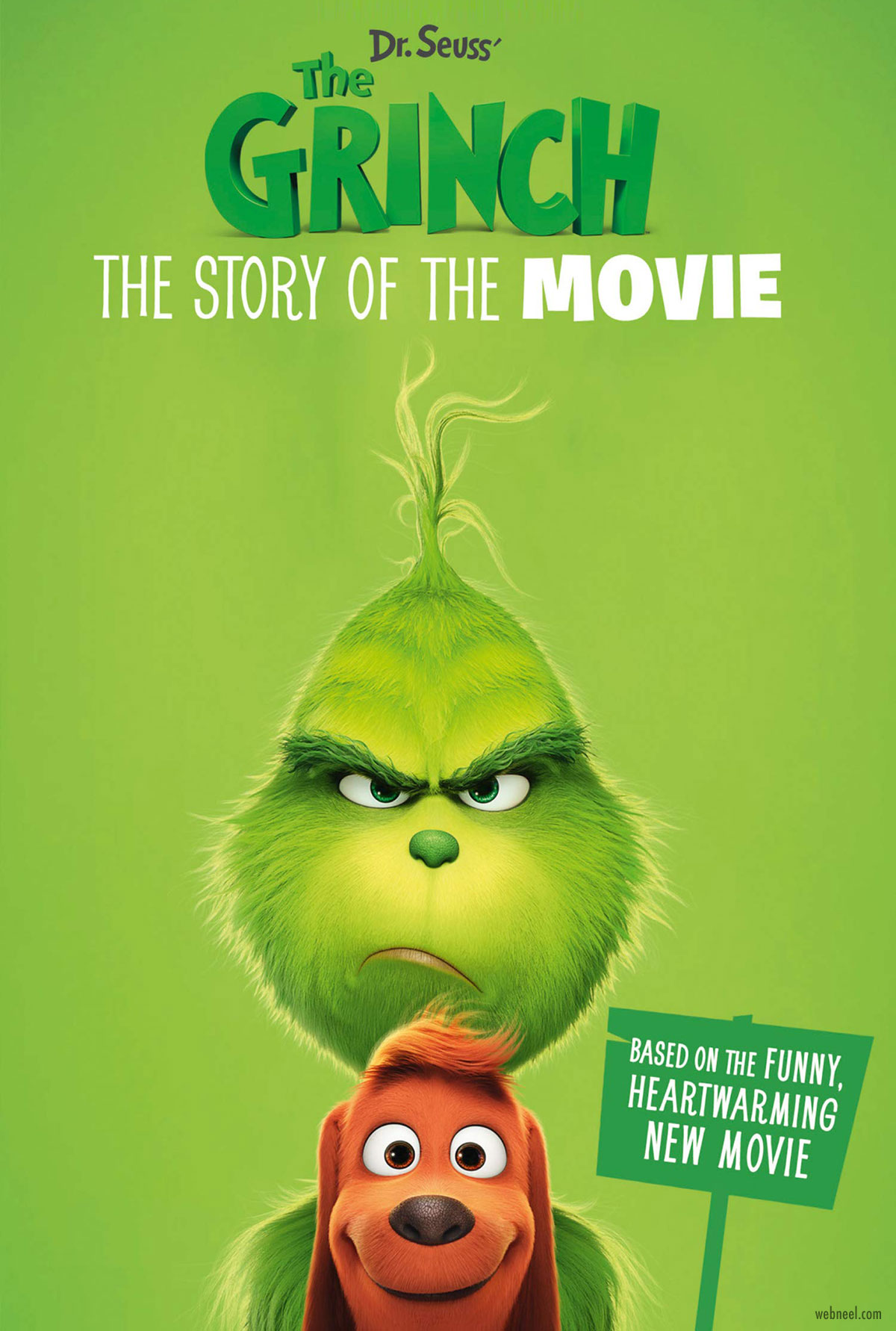 movie poster design grinch color theme