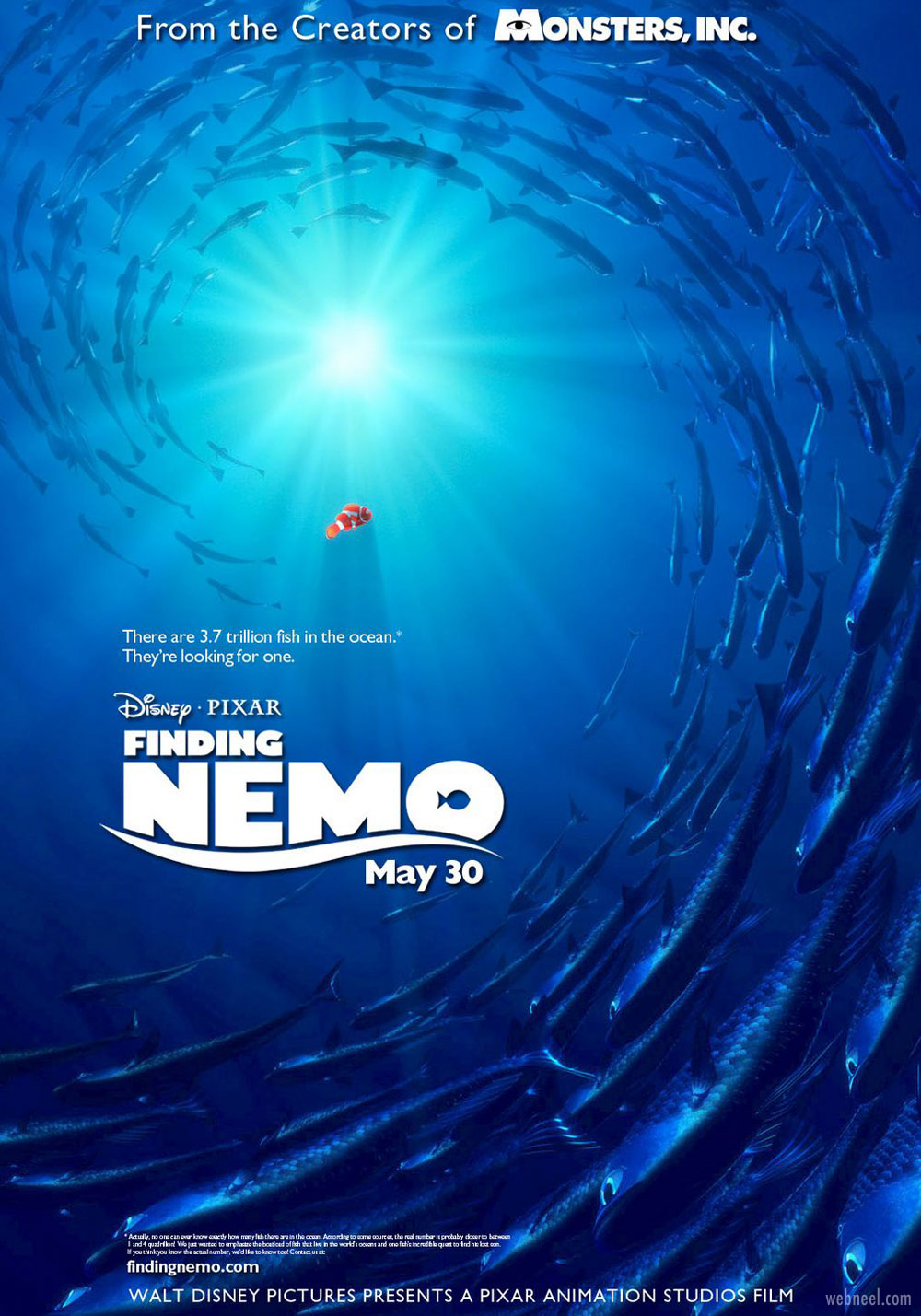 movie poster design finding nemo color theme